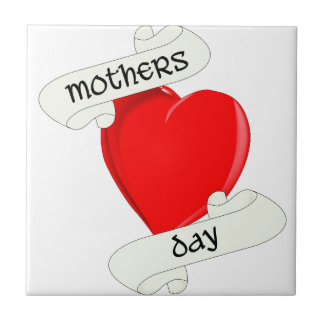 Tattoo Style Mothers Day Small Square Tile