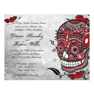 Tattoo Style Muerte Skull and Flourishes Invite