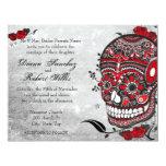 Tattoo Style Muerte Skull and Flourishes Invite 11 Cm X 14 Cm Invitation Card