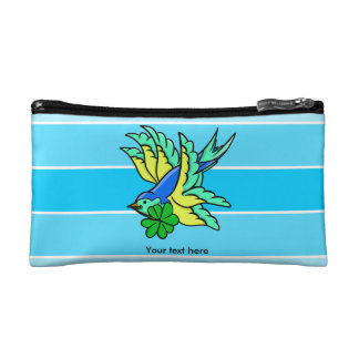 Tattoo Style Swallow Saint Patrick's Day Lucky Makeup Bag