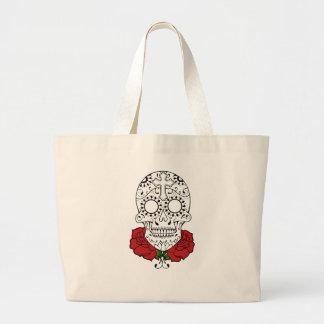 tattoo sugar skull and roses bag