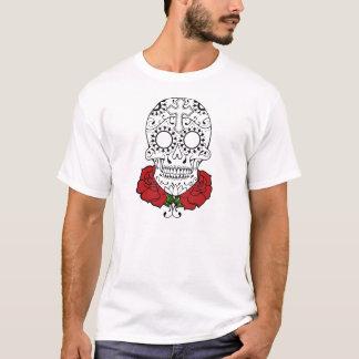 tattoo sugar skull and roses t-shirt