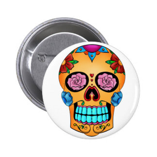 Tattoo Sugar Skull - Day of the Dead, Mexico 6 Cm Round Badge