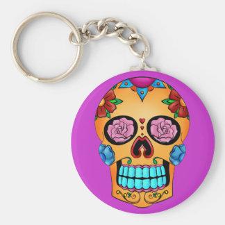 Tattoo Sugar Skull Keychain