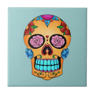 Tattoo Sugar Skull Small Square Tile