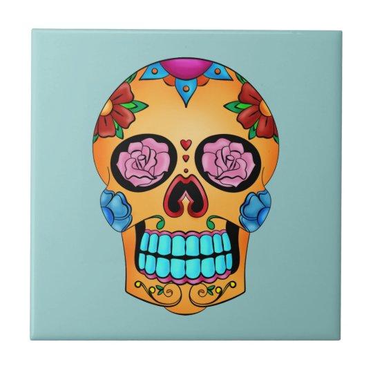 Tattoo Sugar Skull Tile