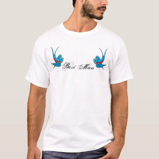 Tattoo Swallow Birds Best Man Tshirt