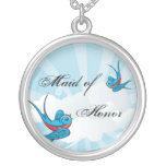 Tattoo Swallow Birds Maid of Honour Necklace