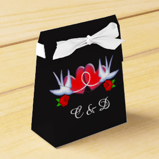 Tattoo Swallow Hearts And Roses Design Favour Box