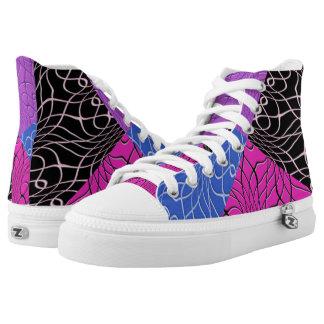 Tattoo Swirl Hi Top Printed Shoes