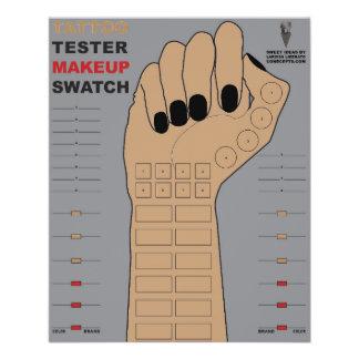 Tattoo Tester Makeup Swatch (Customize Arm Color) 11.5 Cm X 14 Cm Flyer