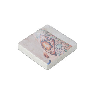Tattoo Themed, Gypsy Inspired Snowflakes Tatto Bod Stone Magnet