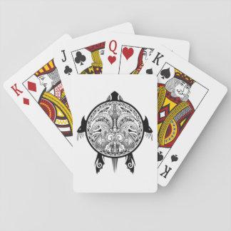 Tattoo Tribal Turtle Poker Deck