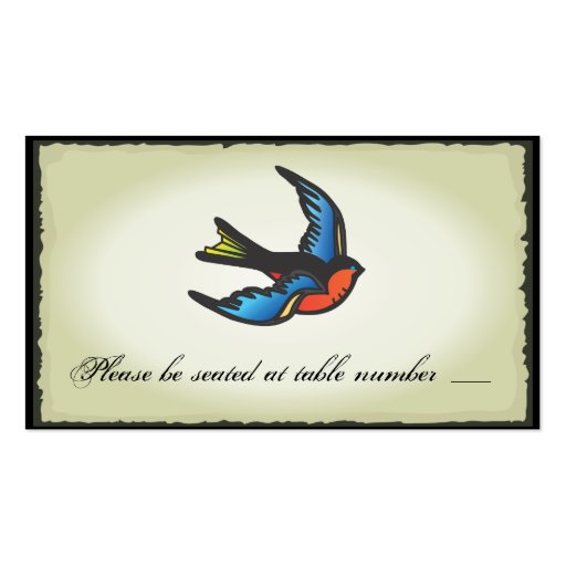 Tattoo Wedding Table Place Cards Business Cards