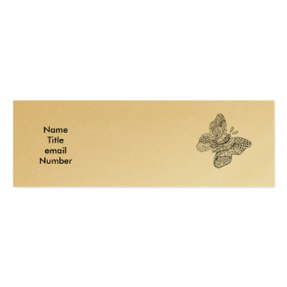 Tattooed Butterfly Profile Card Pack Of Skinny Business Cards