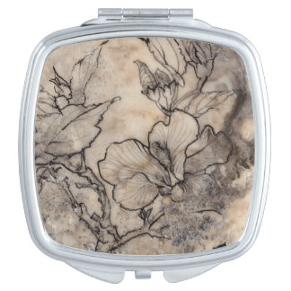 Tattooed Floral I Compact Mirror
