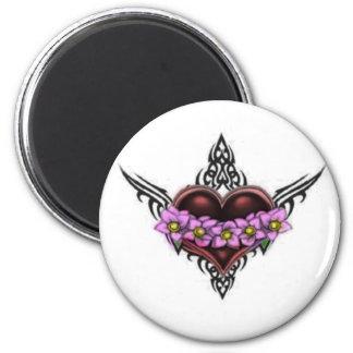 Tattooed Heart Grunge Goth 6 Cm Round Magnet