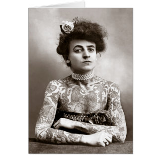 Tattooed Lady, 1907 Card