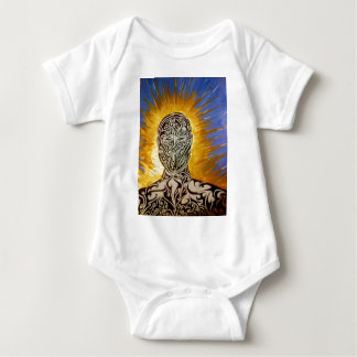 Tattooed man baby bodysuit