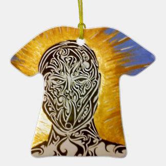 Tattooed man ceramic T-Shirt decoration