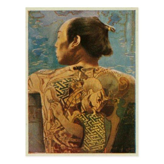 Tattooed Man From 1920's Japan Postcard
