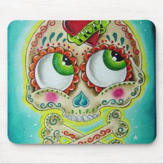 Tattooed sugar skull mouse mat