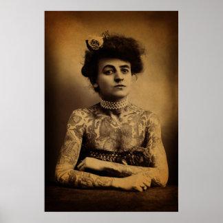 Tattooed Woman Poster