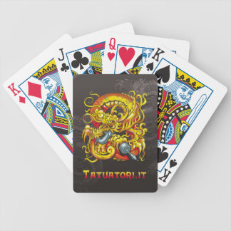 Tattooer Dragon Bicycle Playing Cards