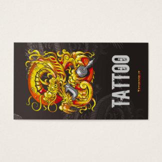 Tattooer Dragon Gold Business Card