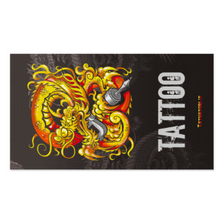Tattooer Dragon Gold Pack Of Standard Business Cards