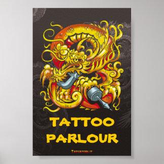 Tattooer Dragon Print