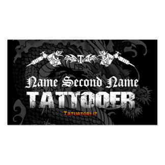 Tattooer Japanese Dragon Pack Of Standard Business Cards