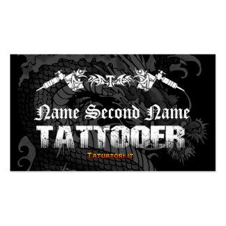 Tattooer Japanese Dragon Business Card
