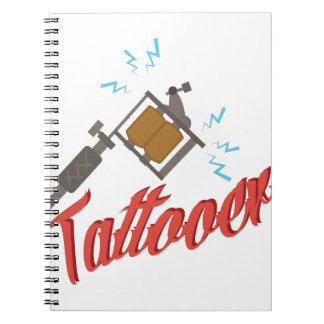 Tattooer Spiral Note Book