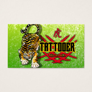 Tattooer Tiger Business Card