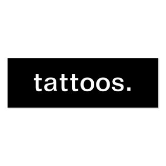 Tattoos Business Card