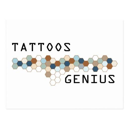 Tattoos Genius Post Cards