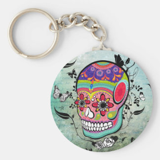 Tatttoo Urban Muerte Day of the Dead Illustration Basic Round Button Key Ring