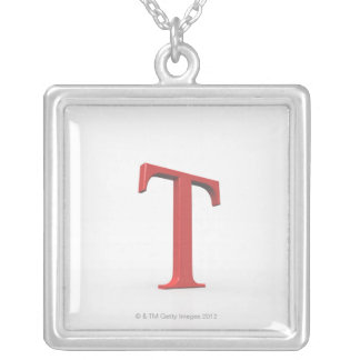 Tau 2 silver plated necklace