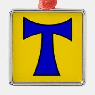 Tau Blue  Yellow Design tie sticker chain ornament