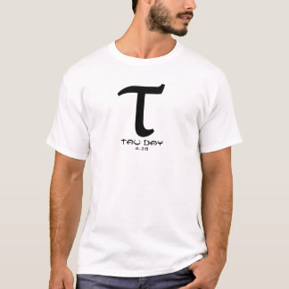 Tau Day - Black Greek Symbol (front and back) T-Shirt