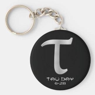Tau Day - Silver Greek Symbol Keychains