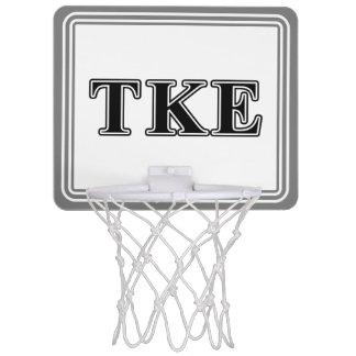 Tau Kappa Epsilon Black Letters Mini Basketball Hoop