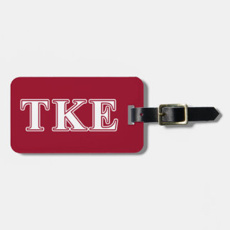 Tau Kappa Epsilon White and Red Letters Luggage Tag