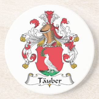 Tauber Family Crest Beverage Coasters