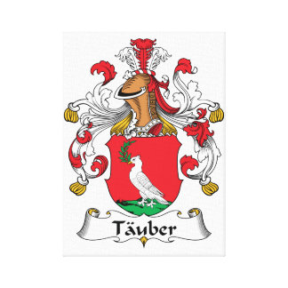 Tauber Family Crest Stretched Canvas Prints