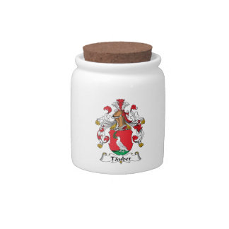 Tauber Family Crest Candy Jars