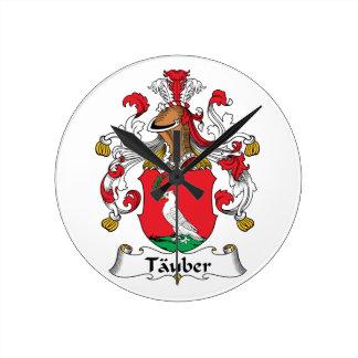 Tauber Family Crest Wall Clocks