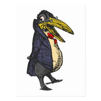 taught rabe academic to raven postcard