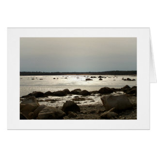 Taunton Bay Afternoon at Ebb Tide Zazzle Card